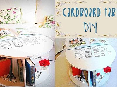 CARDBOARD TABLE TUTORIAL - DIY - Mery