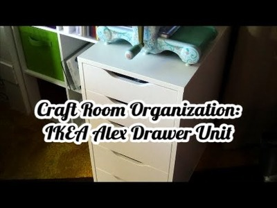 Craft Room Organization: IKEA Alex Five Drawer Unit