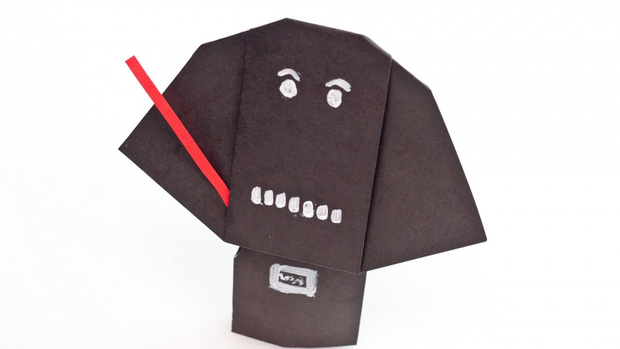 Create a Cute Darth Vader Finger Puppet - DIY  - Guidecentral