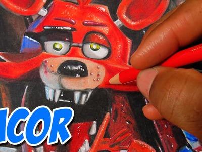 Dibujando a Foxy - Five Nights At Freddy's - FNAF