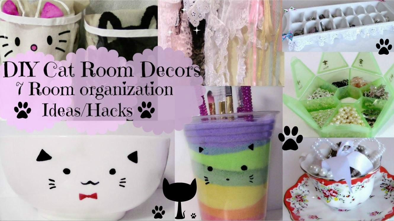DIY Cat Room Decors and 7 Room organization Ideas.Hacks