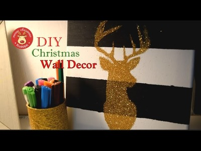 DIY Christmas Wall Decor | Reindeer Canvas | How to | Xmas Decor
