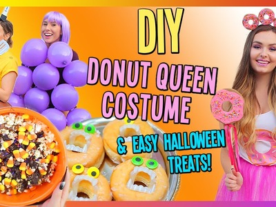 DIY Donut Queen Costume & Easy Halloween Treats!