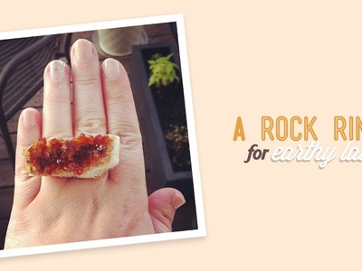 DIY Geode Rock Ring