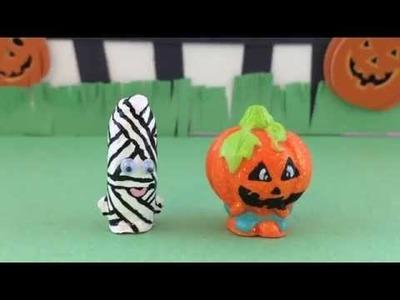 DIY HALLOWEEN SHOPKINS Tutorial! Custom Jack O' Lantern & Mummy Costumes PT 2