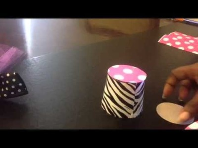 DIY Minnie Mouse Top Hat Using A Cup
