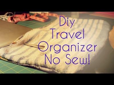 Diy~ Travel Organizer {No Sew}