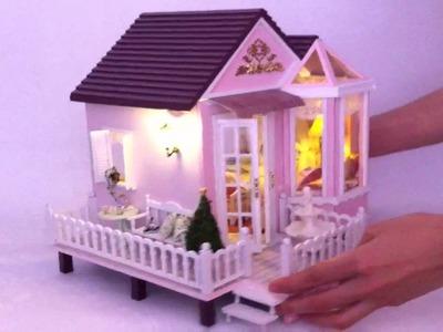 DIY Wooden Dollhouse of Sweet Home, at www.LAminiWorld.com
