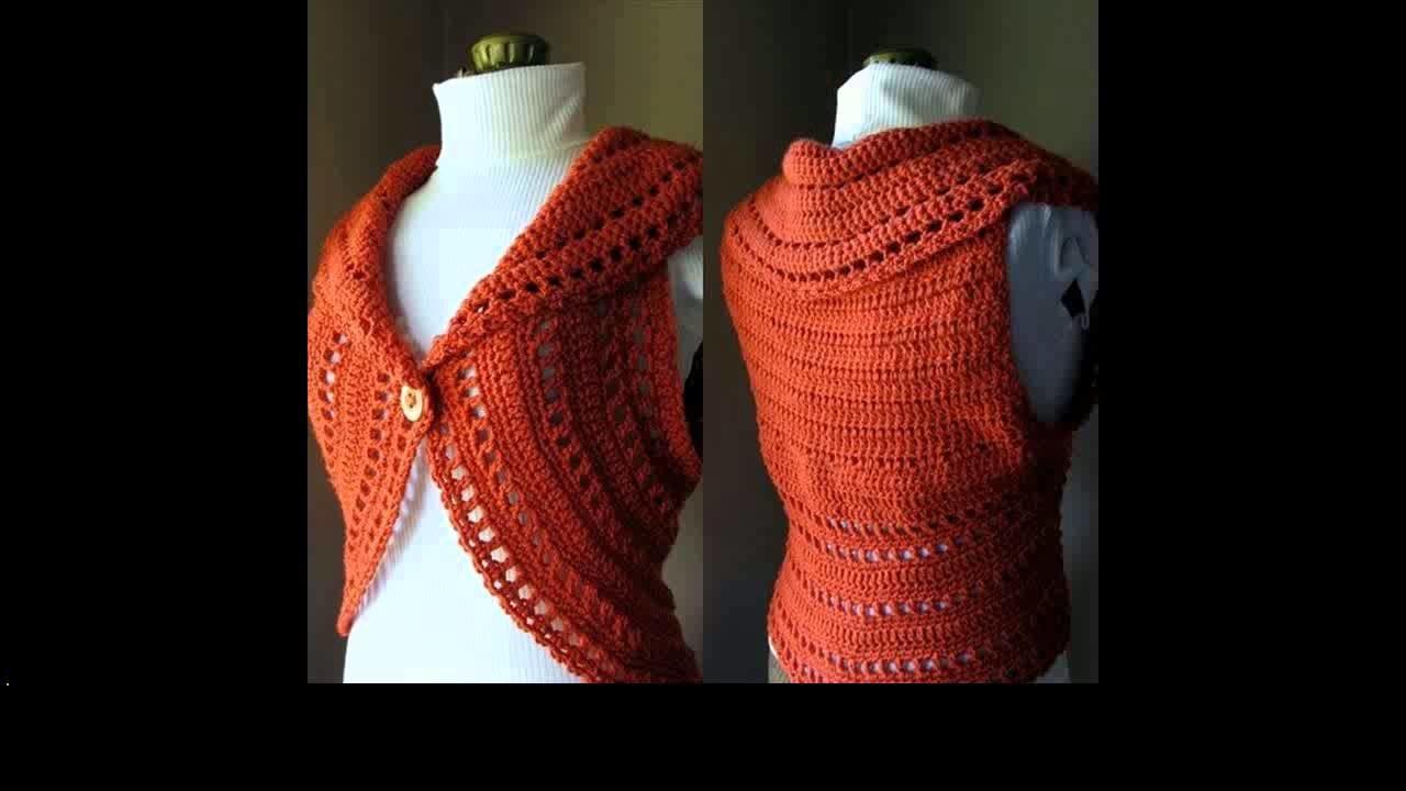 Easy crochet shrug for beginners