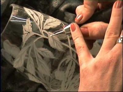 Glass Engraving - Lead Crystal Vase - Lesley Pyke