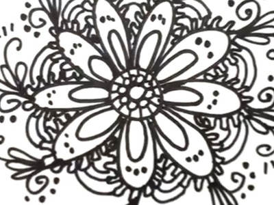 How to Draw Cool Designs - Draw Flower Designs