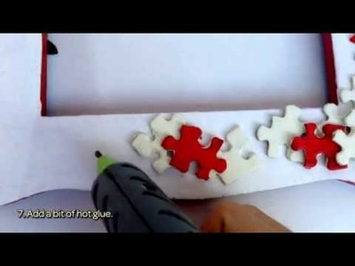 How To Make A Beautiful Frame With Old Puzzle Pieces - DIY Home Tutorial - Guidecentral