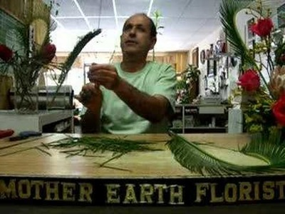 How to make a heart from a palm frond