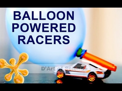 How to Make Balloon powered Cars - Cool DIY based on pressure - dartofscience