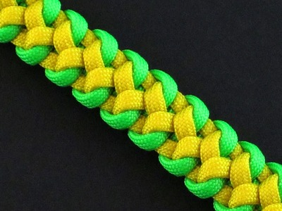 How to Make the Two Color Snake Skin Sinnet (Paracord) Bracelet by TIAT