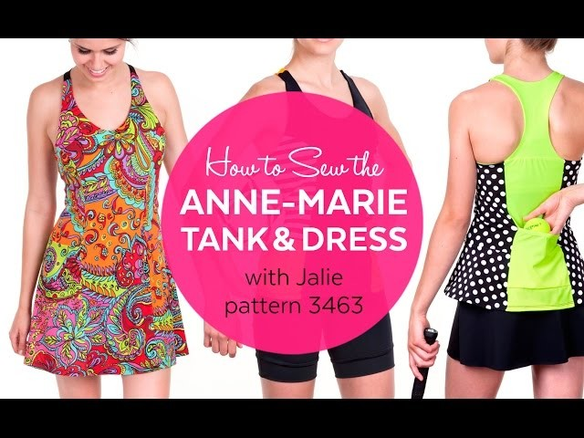 How to Sew the Jalie 3463 ANNE-MARIE Dress