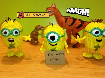 Minions 2015 Crochet eggs Funny Minion Stop Motion Dinosaurs