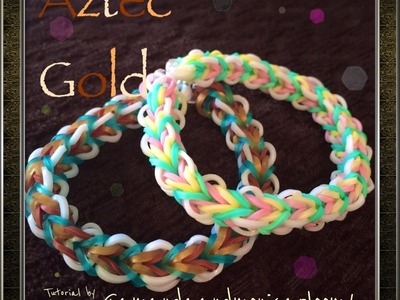 ***New*** Aztec Gold Rainbow Loom Bracelet