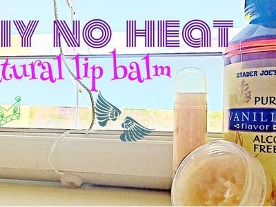 NO HEAT! Diy all natural lip balm tutorial