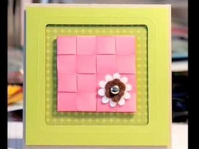 Ribbon Weaving - Make a Card Monday #19