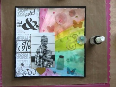 Scrapbook Process 3 - Make a Mess Monday