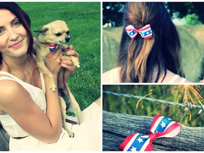 Simple DIY Bow Tutorial ☆ 4th of July Series