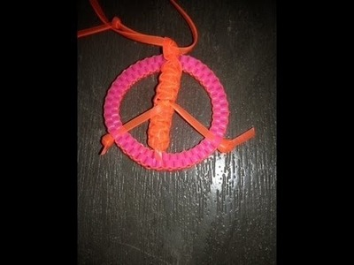 The Peace Sign Tutorial for Lanyards.Boondoggle.Scoubidou