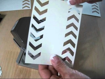 Tip on Stampin'Up! Chevron Boarder Punch frenchiestamps.com