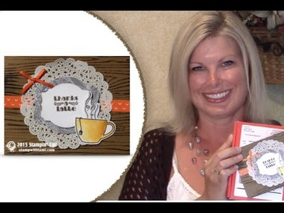 """Watercolored Stampin Up """"Thanks A Latte"""" card from July 2015 Paper Pumpkin Box"""