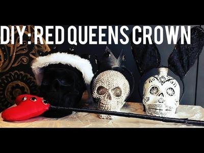 Alice in wonderland inspired: DIY red queens crown. Simple+easy.