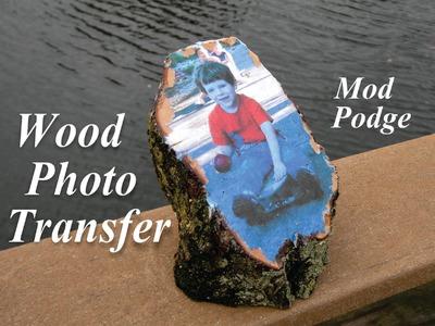 DIY Easy Mod Podge Wood Photo Transer