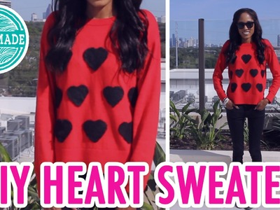 DIY Heart Sweater | Needle Felting How To - HGTV Handmade