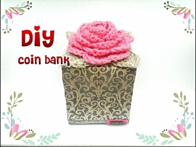Diy: how to make a coin bank using wasted tissue box