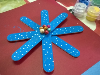 DIY - Snowflakes Using Popsicle Stick Ornaments  - Christmas Crafts For Kids