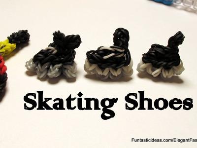 Hockey Skating Shoe Charm - How to Rainbow Loom Design - Sport Series