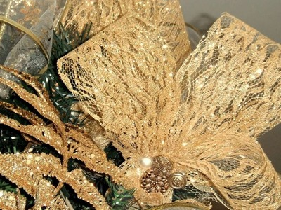How To Christmas Tree Lace Ribbon Toppers - DIY Home Tutorial - Guidecentral