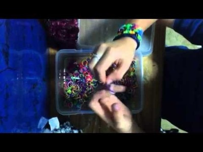 How to make a ball charm with rainbow loom bans takes 4 ban