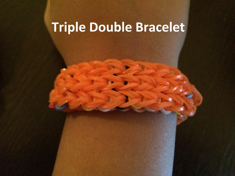 How to make a Rainbow Loom Triple Double bracelet