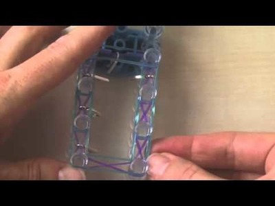 HOW TO MAKE RAINBOW LOOM KEYCHAIN WITH NAMES