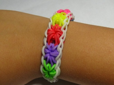 "How to make the Rainbow loom  "" StarBurst Bracelet"""