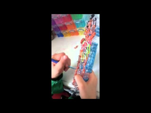 How to make the Rainbow Loom Girl Swimmer Action Figure