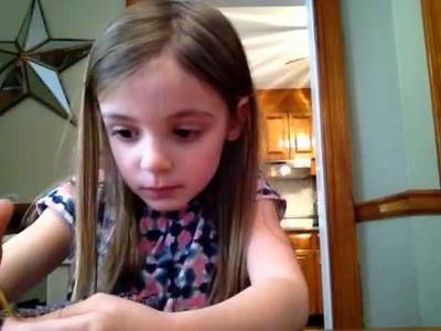 How to make waterfall rainbow loom bracelet