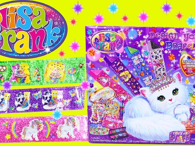 LISA FRANK Toys Bracelets Design Your Own Jewelry Maker DIY Stickers & Surprise Design DisneyCarToys