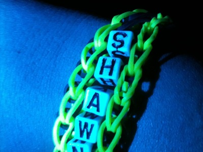 Make the Glow Rainbow loom bracelet (tutorial)