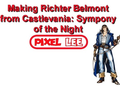 Perler Beads: Making Richter from Castlevania: Symphony of the Night