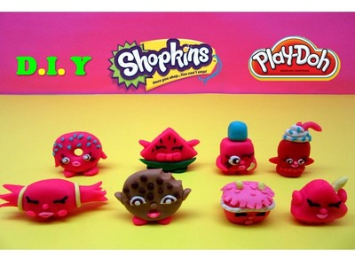 Play Doh Shopkins D.I.Y. How to make your own Shopkins - Kiddie Toys