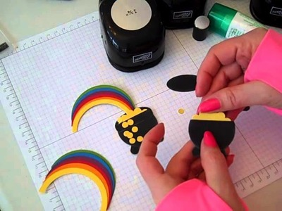 Pot of Gold Punch Art with Rainbow Stampin' UP!