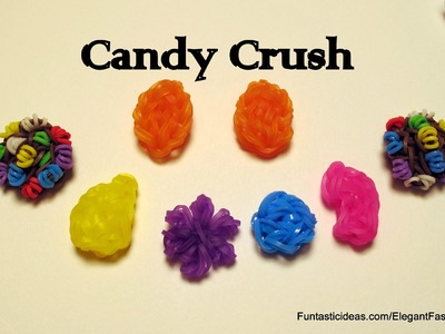 Rainbow Loom Candy Crush Orange Candy - How to