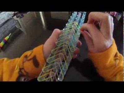 Rainbow loom feather bracelet