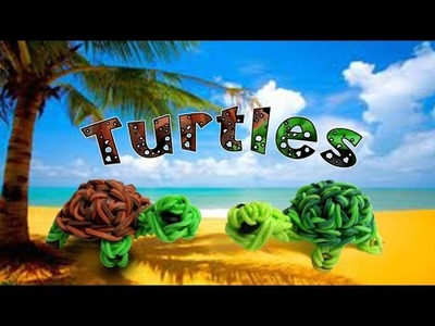 Rainbow Loom New 3D Turtle.Franklin the Turtle Figure.Charm - How to - Animal Series